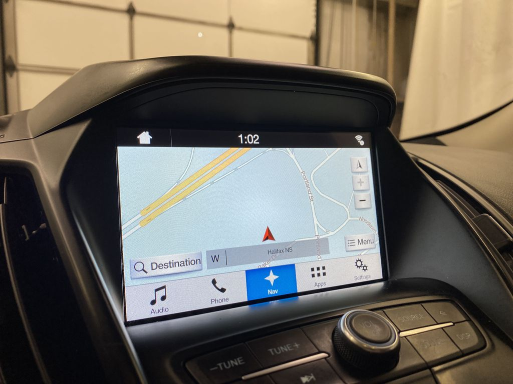 Red[Ruby Red Metallic Tinted Clearcoat] 2017 Ford Escape Navigation Screen Closeup Photo in Dartmouth NS