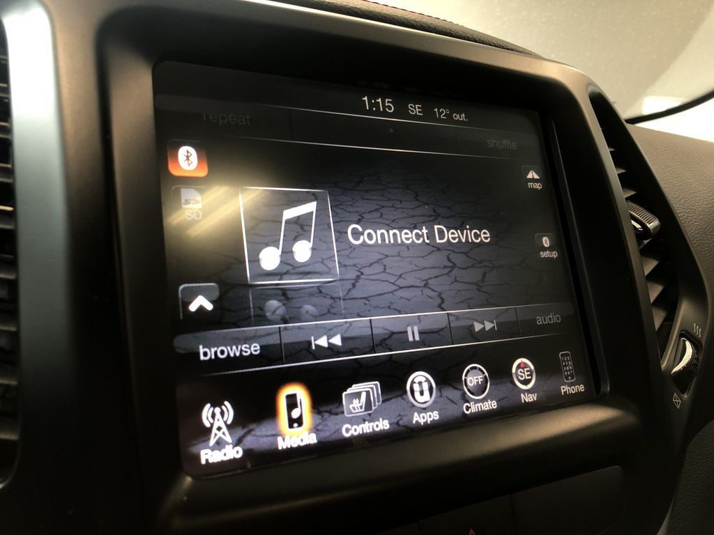 Silver 2016 Jeep Cherokee Trailhawk Right Side Photo in Edmonton AB