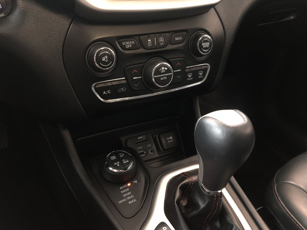 Silver 2016 Jeep Cherokee Trailhawk Right Front Corner Photo in Edmonton AB