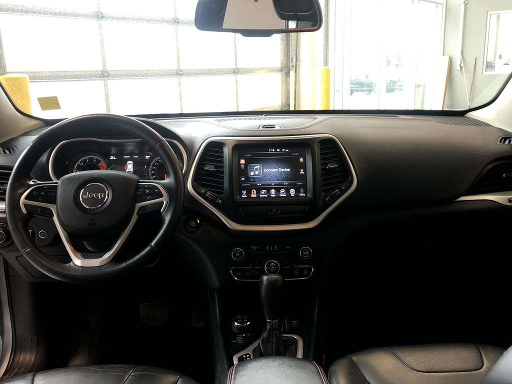 Silver 2016 Jeep Cherokee Trailhawk Rear of Vehicle Photo in Edmonton AB