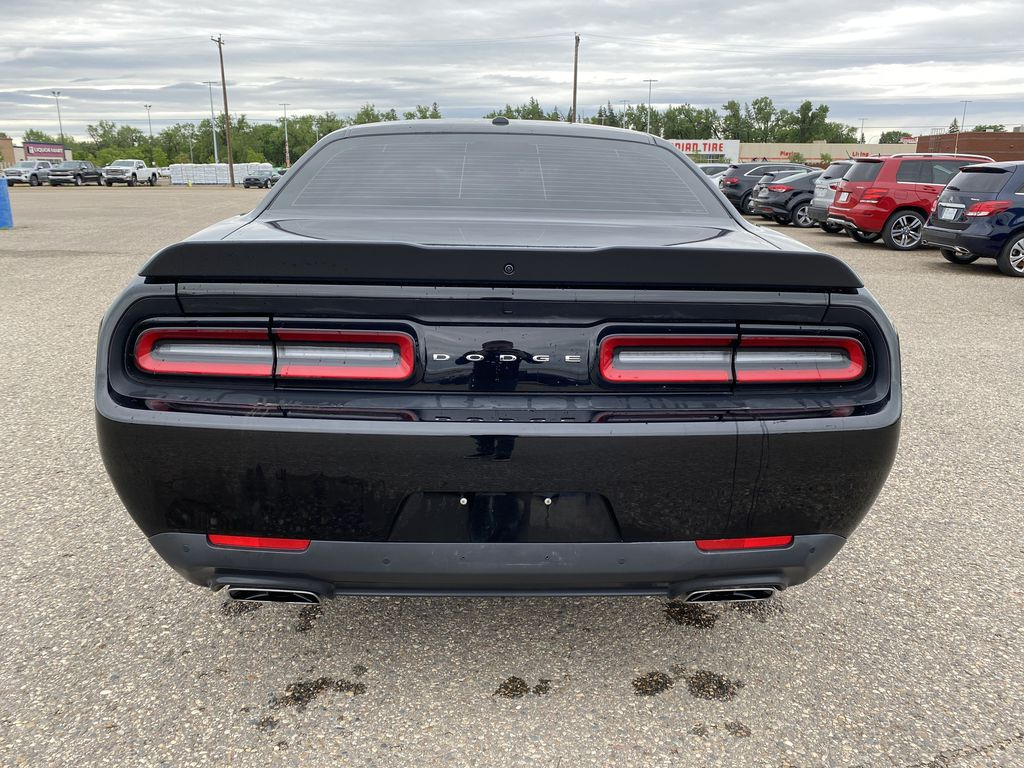 Black[Pitch Black] 2016 Dodge Challenger 2dr Cpe Scat Pack *6.4L V8 485HP* *Launch Mode* Rear of Vehicle Photo in Brandon MB