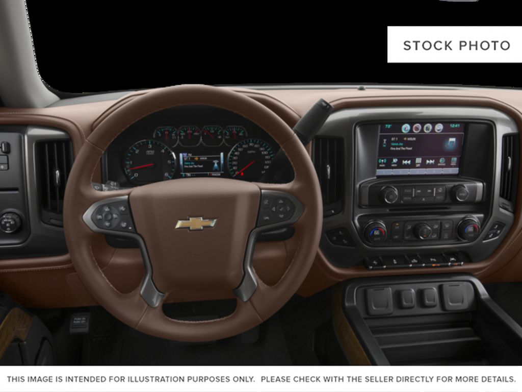 Red[Siren Red Tintcoat] 2017 Chevrolet Silverado 1500 Steering Wheel and Dash Photo in Fort Macleod AB