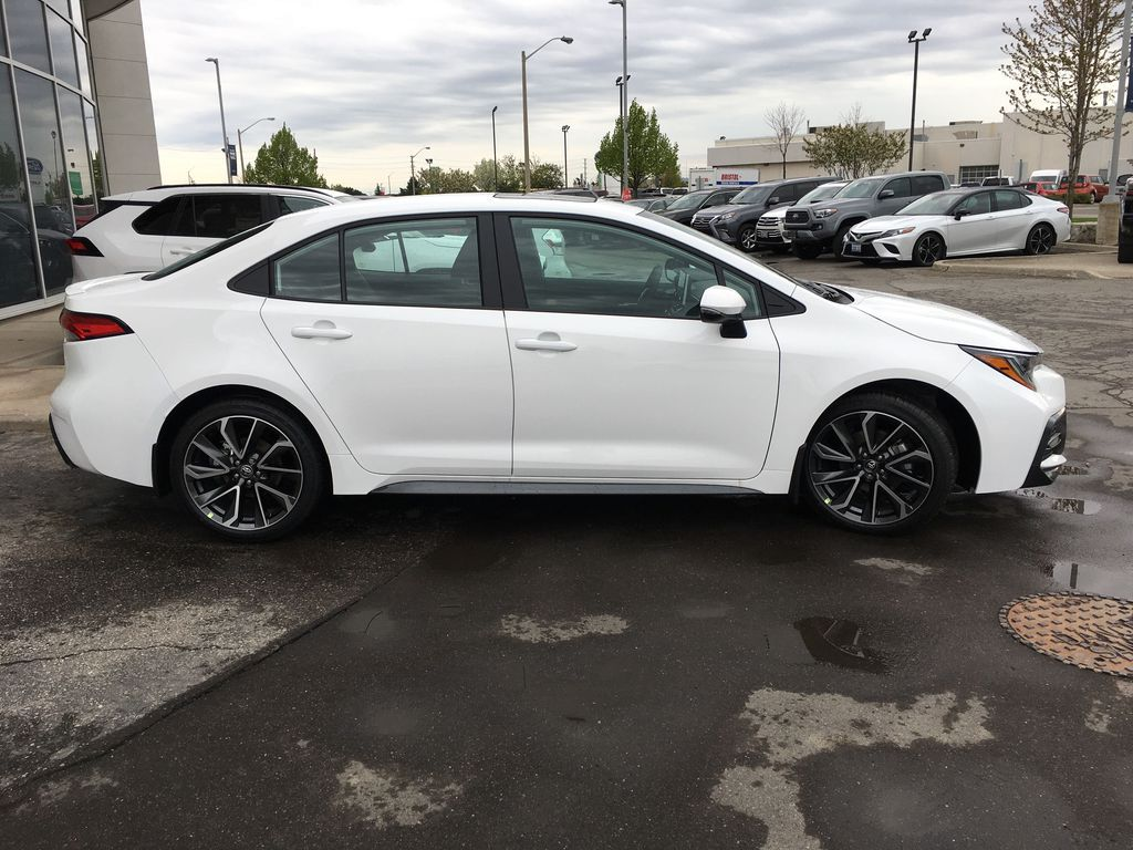 White[Blizzard Pearl w/Black Roof] 2021 Toyota Corolla SE Upgrade Package B4RBSC BM Right Side Front Seat  Photo in Brampton ON