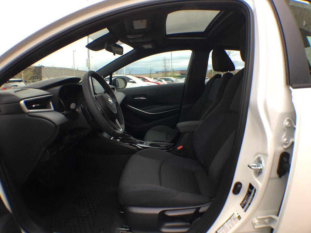 White[Blizzard Pearl w/Black Roof] 2021 Toyota Corolla SE Upgrade Package B4RBSC BM Left Front Interior Door Panel Photo in Brampton ON
