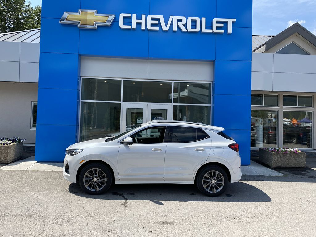 White[Summit White] 2021 Buick Encore GX Left Side Photo in Canmore AB