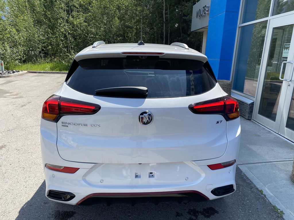 White[Summit White] 2021 Buick Encore GX Rear of Vehicle Photo in Canmore AB