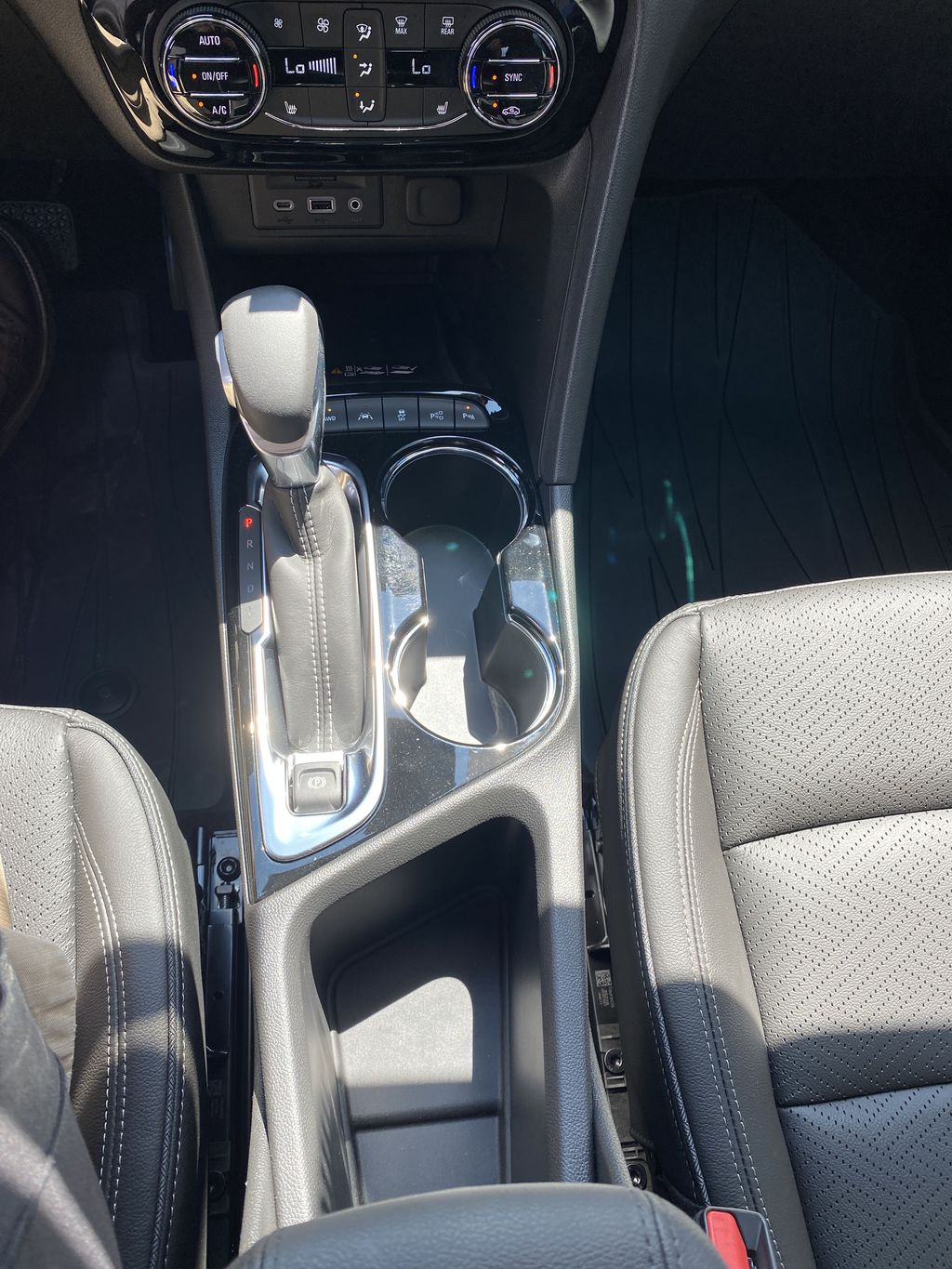 White[Summit White] 2021 Buick Encore GX Center Console Photo in Canmore AB