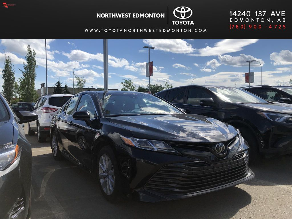 Black 2019 Toyota Camry LE