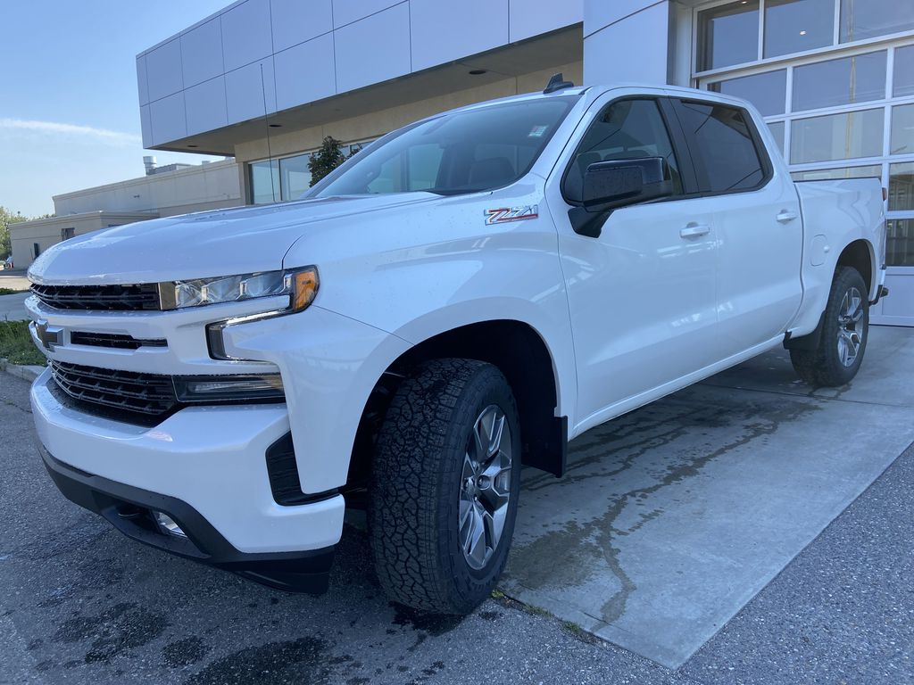 White[Iridescent Pearl Tricoat] 2021 Chevrolet Silverado 1500 RST Left Front Head Light / Bumper and Grill in Calgary AB