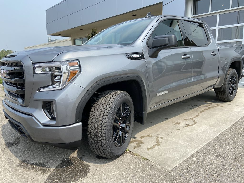Gray[Satin Steel Metallic] 2021 GMC Sierra 1500 Elevation Left Front Head Light / Bumper and Grill in Calgary AB