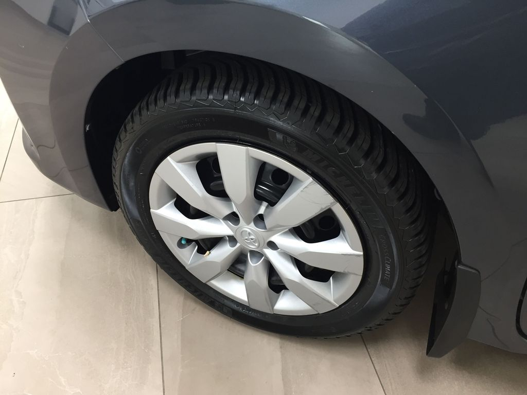 Gray[Slate Metallic] 2015 Toyota Corolla S / MANUAL TRANSMISSION Left Front Rim and Tire Photo in Sherwood Park AB