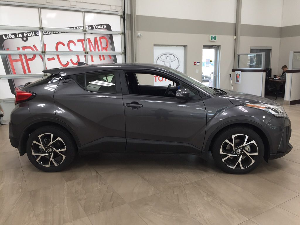 Gray[Magnetic Grey Metallic] 2021 Toyota C-HR XLE Premium Right Side Photo in Sherwood Park AB