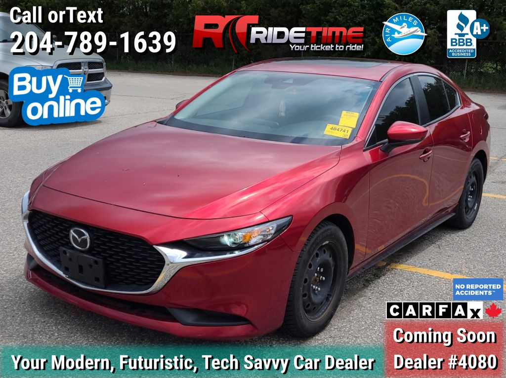 Red[Soul Red Crystal Metallic] 2019 Mazda Mazda3 GS AWD - Leather, Sunroof, NAV, 2 Sets of Wheels
