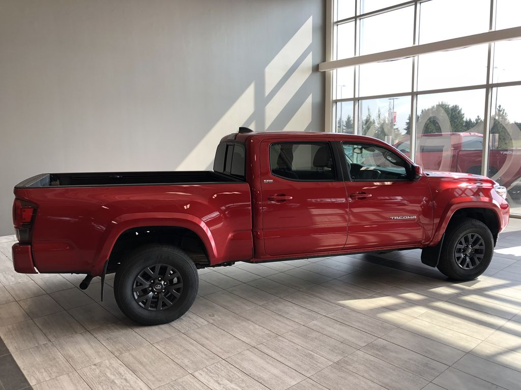 Red 2020 Toyota Tacoma 4WD Double Cab SR5 Rear Seat Photo in Edmonton AB