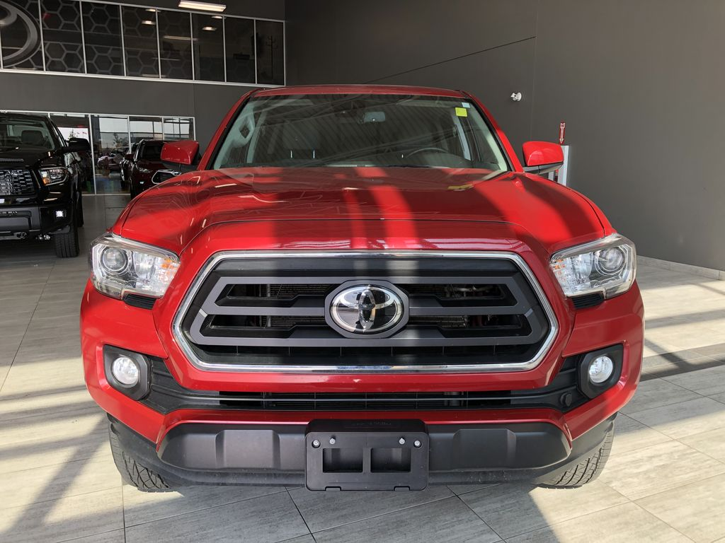 Red 2020 Toyota Tacoma 4WD Double Cab SR5 Odometer Photo in Edmonton AB