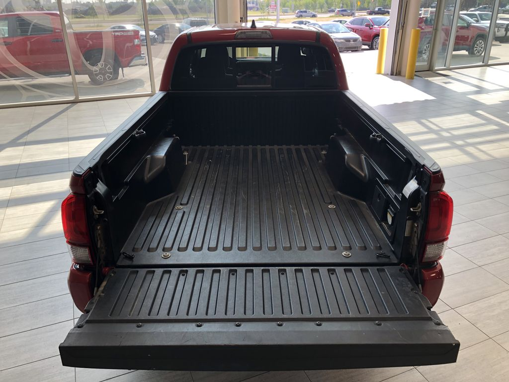 Red 2020 Toyota Tacoma 4WD Double Cab SR5 Rear of Vehicle Photo in Edmonton AB
