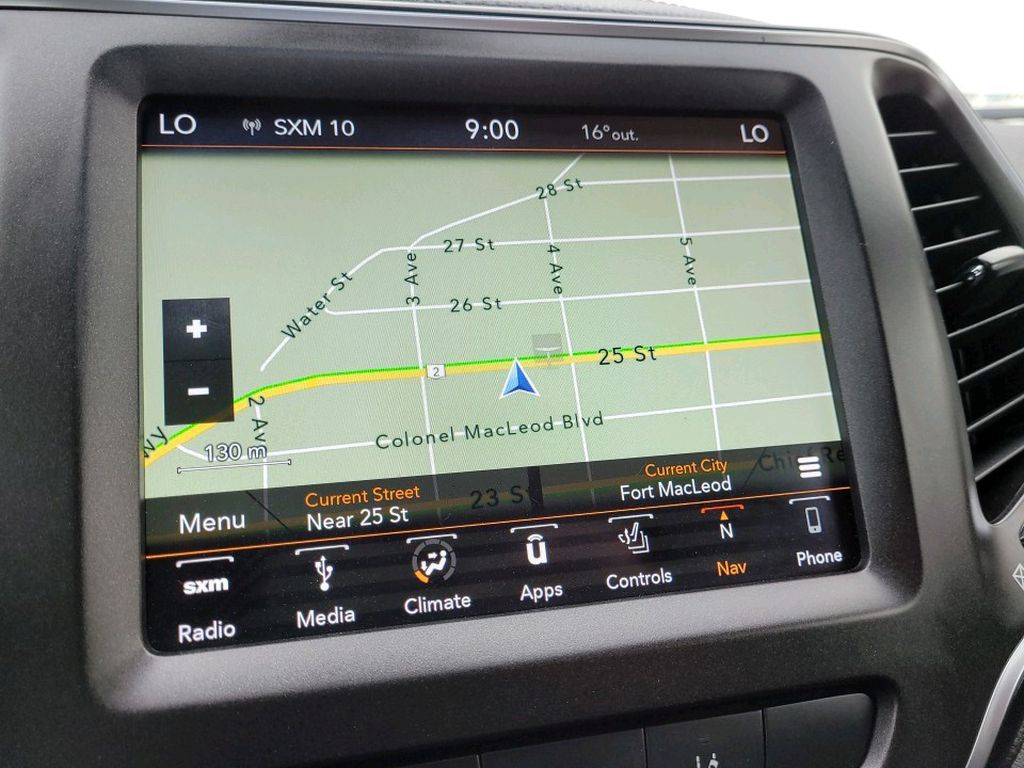 Blue 2019 Jeep Cherokee Central Dash Options Photo in Fort Macleod AB