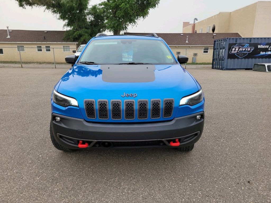 Blue 2019 Jeep Cherokee Left Front Corner Photo in Fort Macleod AB