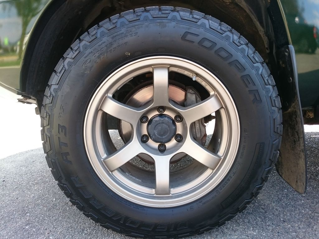 Green[Spruce Mica] 2013 Toyota Tacoma Left Front Rim and Tire Photo in Kelowna BC