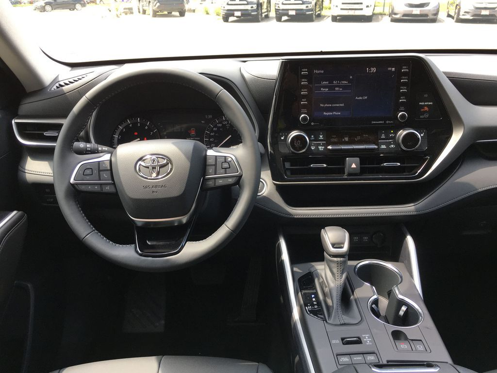 Gray[Magnetic Grey Metallic] 2021 Toyota Highlander AWD XLE Package GZRBHT AM Right Rear Interior Door Panel Photo in Brampton ON