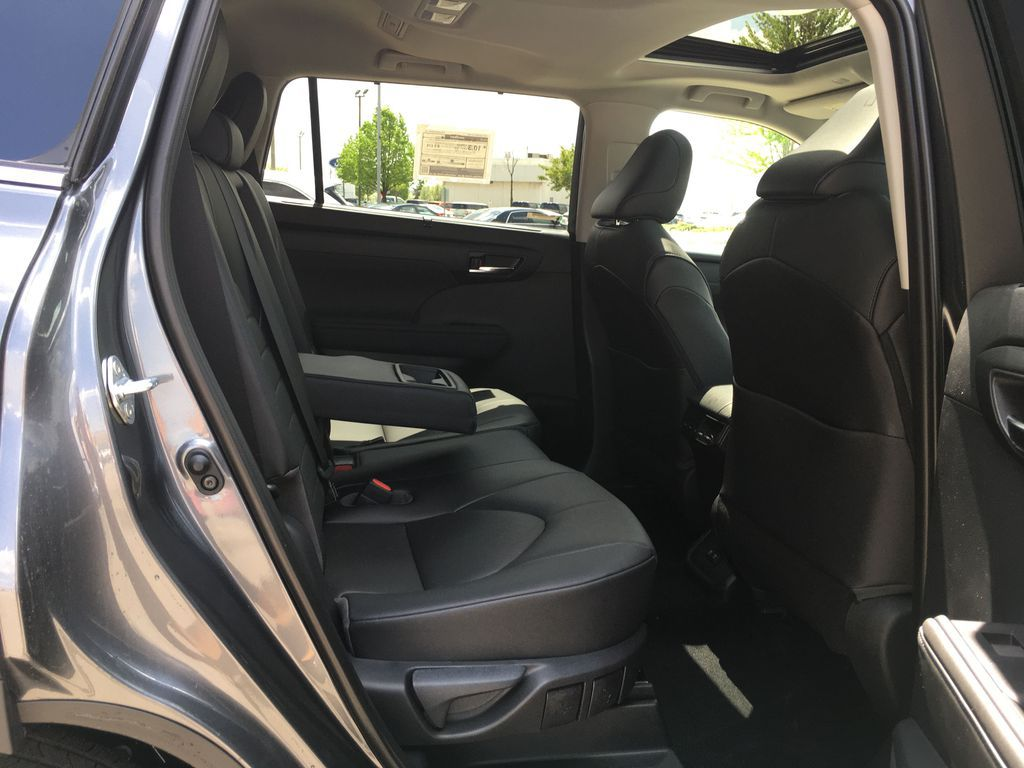 Gray[Magnetic Grey Metallic] 2021 Toyota Highlander AWD XLE Package GZRBHT AM Right Side Front Seat  Photo in Brampton ON