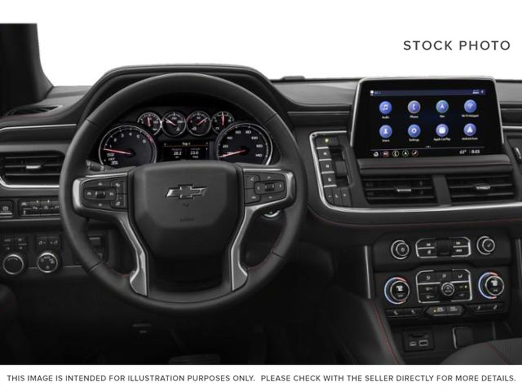 White[Summit White] 2021 Chevrolet Tahoe RST Central Dash Options Photo in Calgary AB