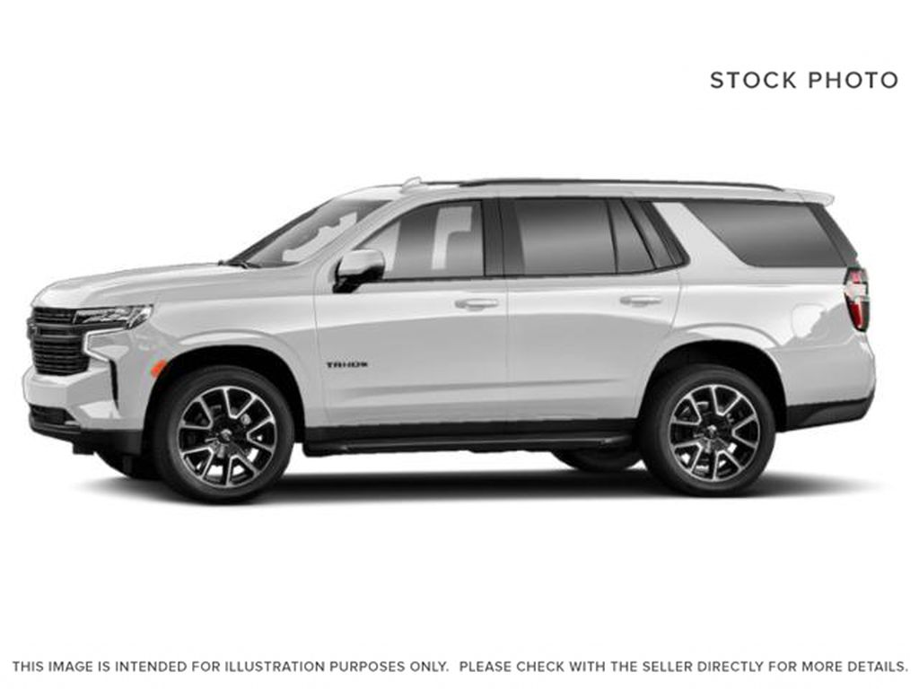 White[Summit White] 2021 Chevrolet Tahoe RST Left Side Photo in Calgary AB