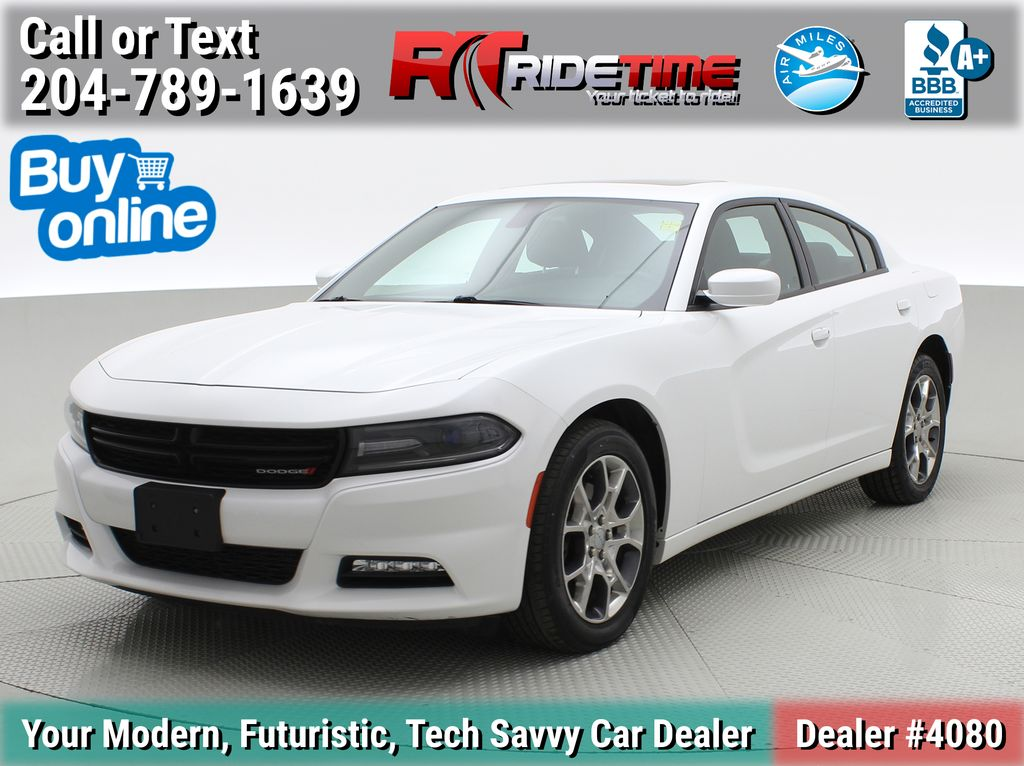 White[Bright White] 2016 Dodge Charger SXT AWD - 8.4in Uconnect, Sunroof, 19in Alloys