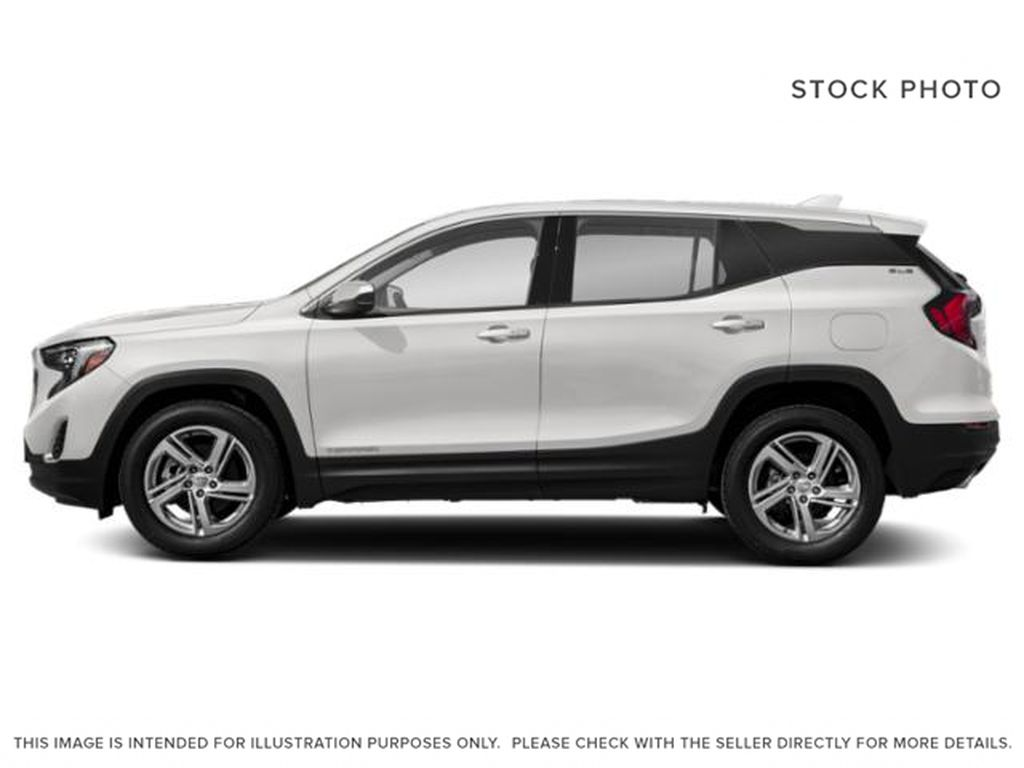 White[Summit White] 2021 GMC Terrain SLE Left Side Photo in Canmore AB
