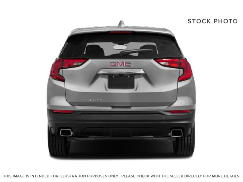 White[Summit White] 2021 GMC Terrain SLE Rear of Vehicle Photo in Canmore AB