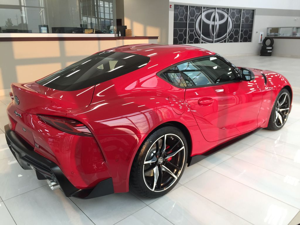Red[Renaissance Red 2.0] 2021 Toyota GR Supra Right Side Photo in Sherwood Park AB