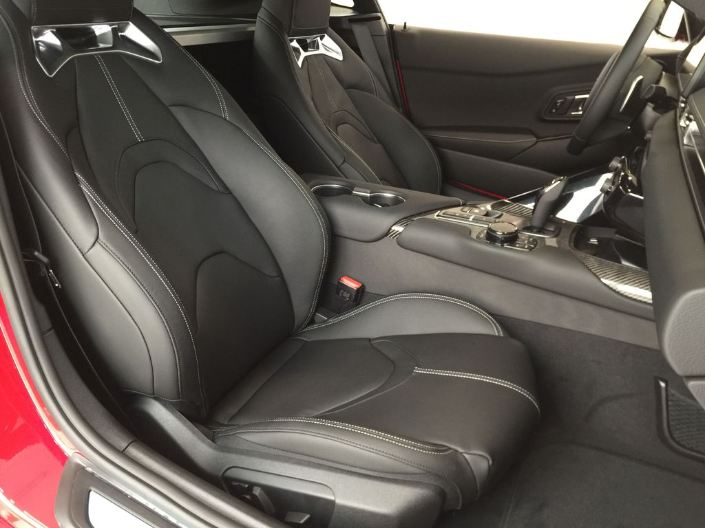 Red[Renaissance Red 2.0] 2021 Toyota GR Supra Right Side Front Seat  Photo in Sherwood Park AB