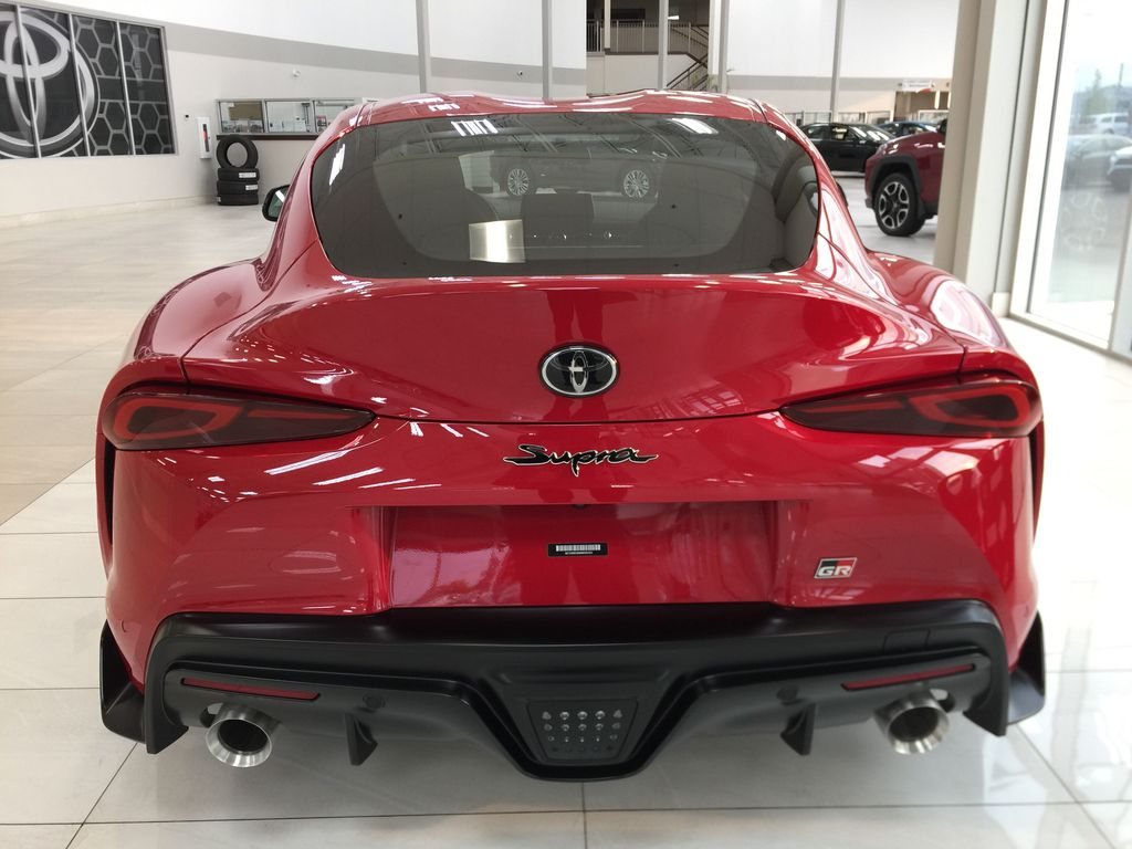 Red[Renaissance Red 2.0] 2021 Toyota GR Supra Rear of Vehicle Photo in Sherwood Park AB