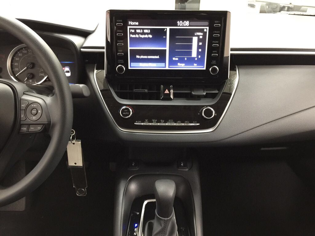 Silver[Classic Silver Metallic] 2021 Toyota Corolla LE Central Dash Options Photo in Sherwood Park AB
