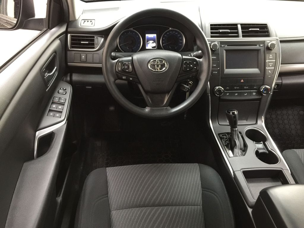 Black[Attitude Black Metallic] 2017 Toyota Camry LE / LOW KMS Left Front Seat Photo in Sherwood Park AB