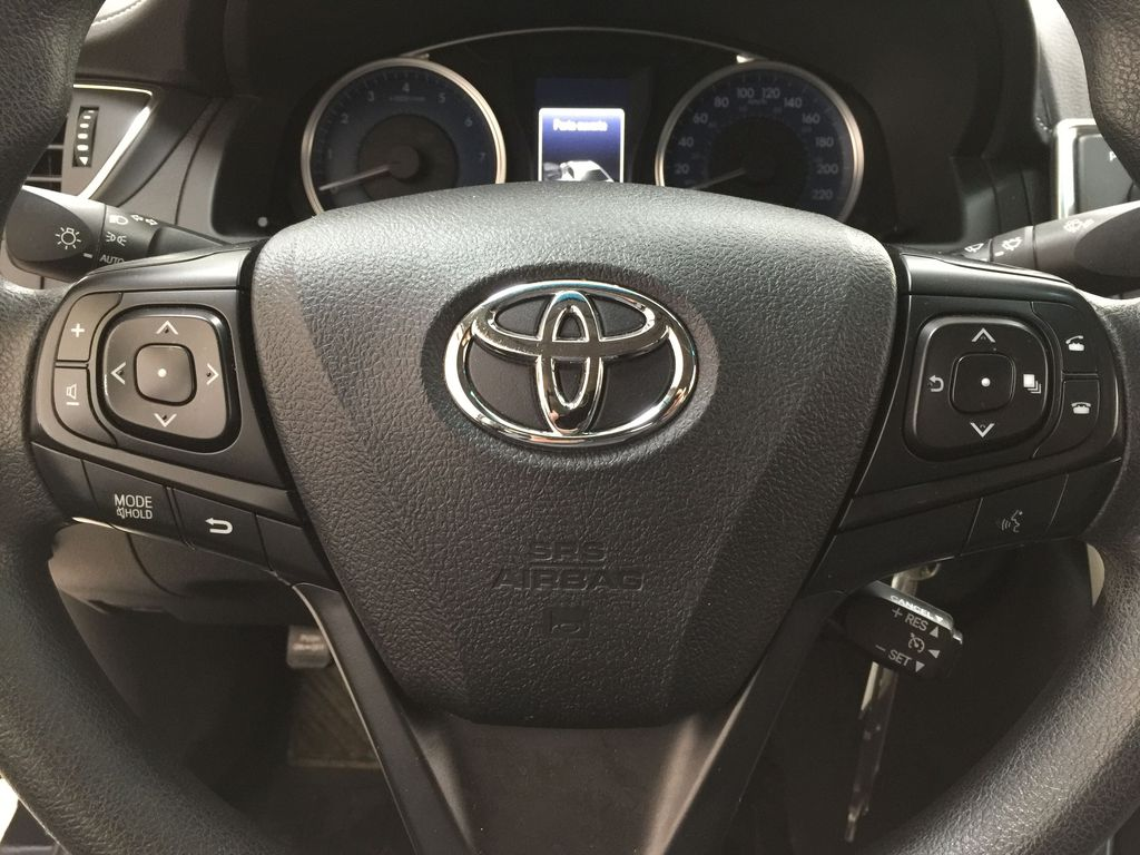 Black[Attitude Black Metallic] 2017 Toyota Camry LE / LOW KMS Steering Wheel and Dash Photo in Sherwood Park AB