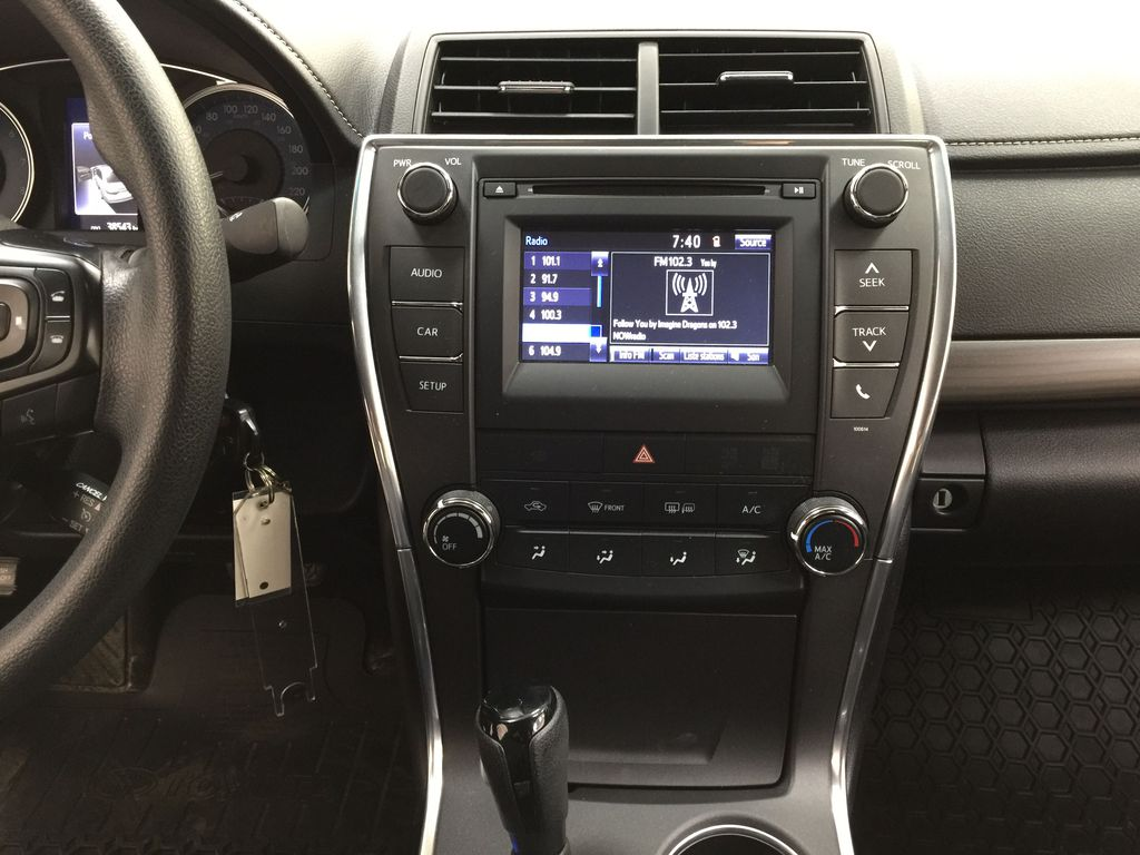 Black[Attitude Black Metallic] 2017 Toyota Camry LE / LOW KMS Central Dash Options Photo in Sherwood Park AB