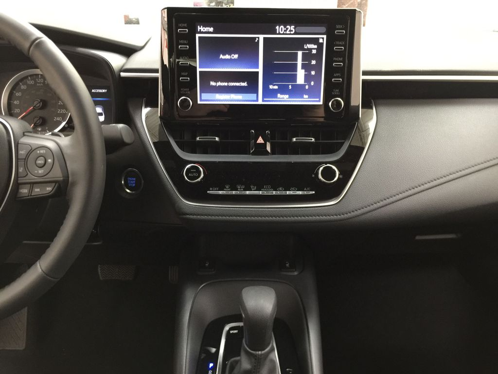 Red[Barcelona Red Metallic] 2021 Toyota Corolla SE Central Dash Options Photo in Sherwood Park AB