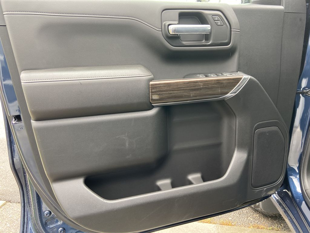 Blue[Northsky Blue Metallic] 2021 Chevrolet Silverado 1500 RST Left Front Interior Door Panel Photo in Calgary AB