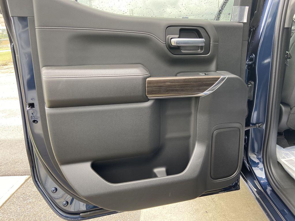 Blue[Northsky Blue Metallic] 2021 Chevrolet Silverado 1500 RST Left Rear Interior Door Panel Photo in Calgary AB