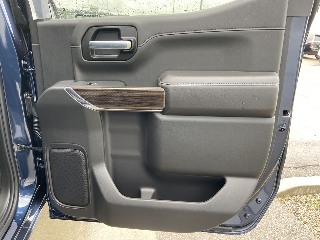 Blue[Northsky Blue Metallic] 2021 Chevrolet Silverado 1500 RST Right Rear Interior Door Panel Photo in Calgary AB