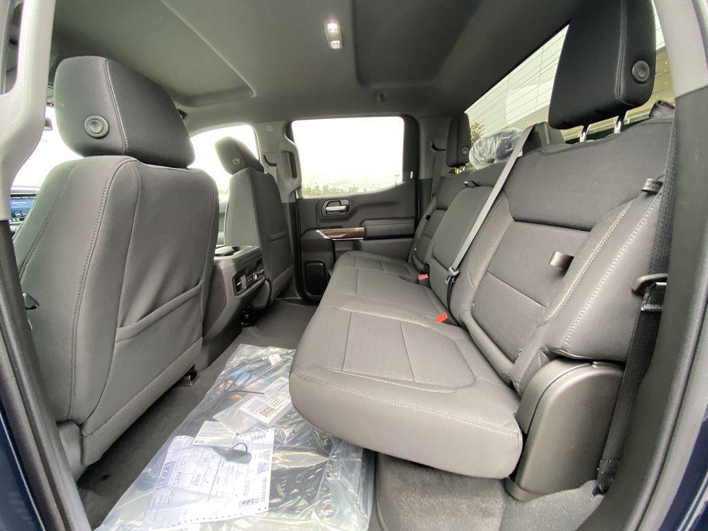 Blue[Northsky Blue Metallic] 2021 Chevrolet Silverado 1500 RST Left Side Rear Seat  Photo in Calgary AB