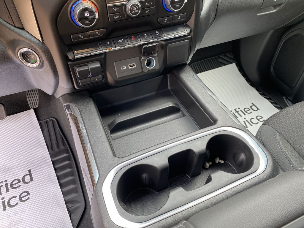 Satin Steel Met 2021 Chevrolet Silverado 1500 Center Console/Charge Ports in Nipawin SK