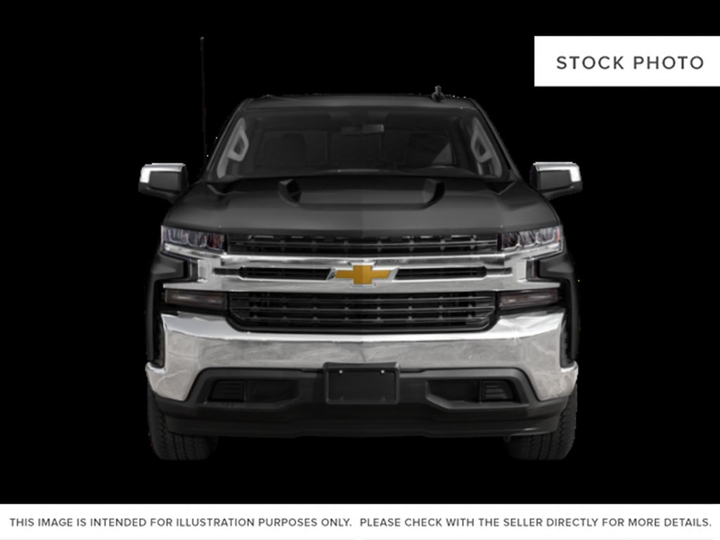 White[Summit White] 2021 Chevrolet Silverado 1500 Custom Trail boss Front Vehicle Photo in Canmore AB
