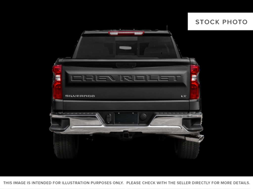 White[Summit White] 2021 Chevrolet Silverado 1500 Custom Trail boss Rear of Vehicle Photo in Canmore AB