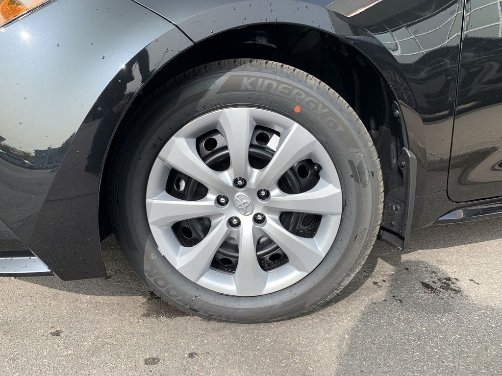 Black[Black Sand Pearl] 2021 Toyota Corolla LE Standard Package BPRBLC AM Left Front Corner Photo in Brampton ON
