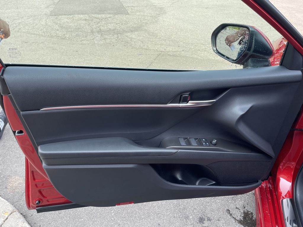 Red[Supersonic Red] 2021 Toyota Camry AWD SE UPGRADE G11BKT BD Left Rear Interior Door Panel Photo in Brampton ON