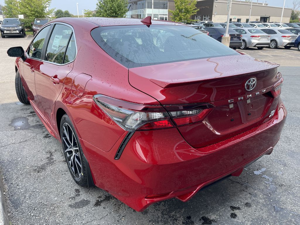 Red[Supersonic Red] 2021 Toyota Camry AWD SE UPGRADE G11BKT BD Left Front Interior Door Panel Photo in Brampton ON