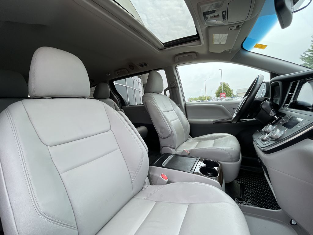 Gray[Pre-Dawn Grey Mica] 2017 Toyota Sienna Right Side Front Seat  Photo in Brampton ON