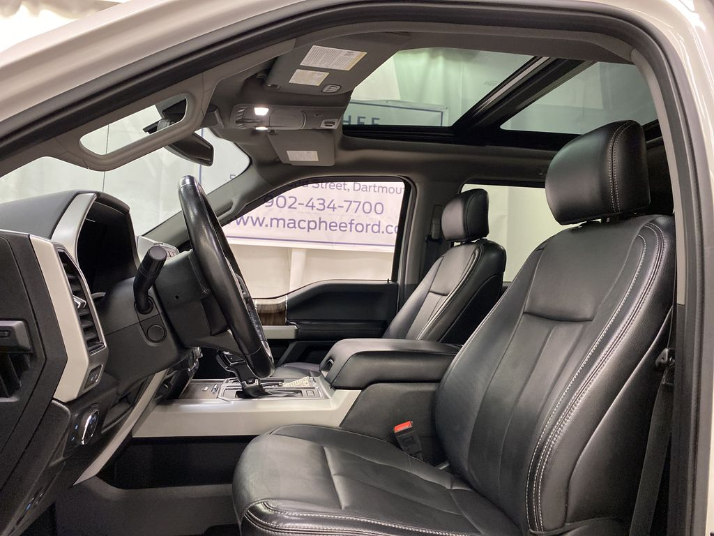 White[Oxford White] 2018 Ford F-150 Left Front Interior Photo in Dartmouth NS